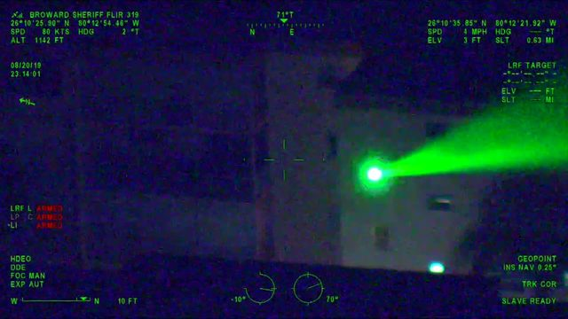 Broward man arrested for pointing laser at BSO helicopter