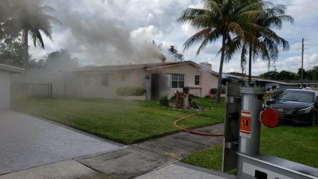 No injuries after house fire, Miami-Dade Fire Rescue says