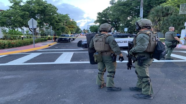 1 in custody after shots fired in Miami Beach