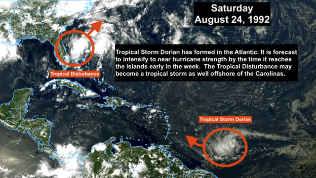 New Tropical Storm Dorian is forecast to strengthen in the Atlantic