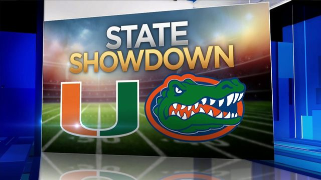 Canes fans party ahead of showdown against Gators