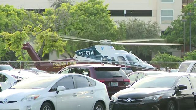Raw video: Coconut Creek Fire Rescue takes shooting victim to Broward…