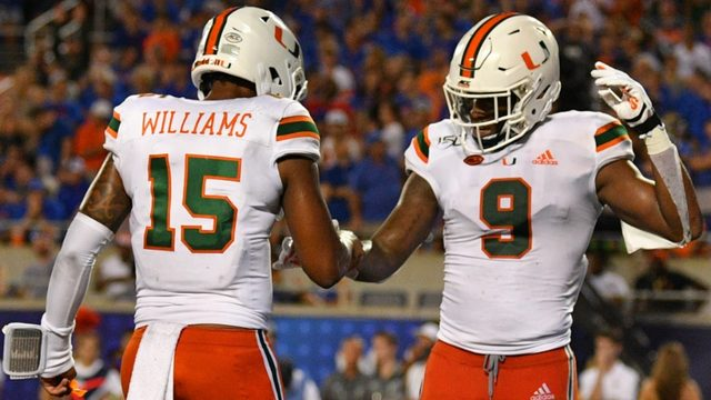 Williams shines in debut, but Hurricanes fall short against No. 8 Gators