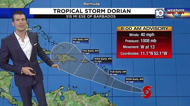 Tropical Storm Dorian to impact Puerto Rico, Haiti