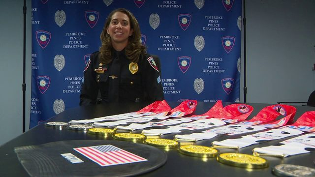 Pembroke Pines police sergeant wins multiple gold medals, breaks records…