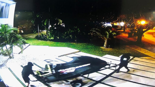 Masked thieves steal WaveRunner from Miami home