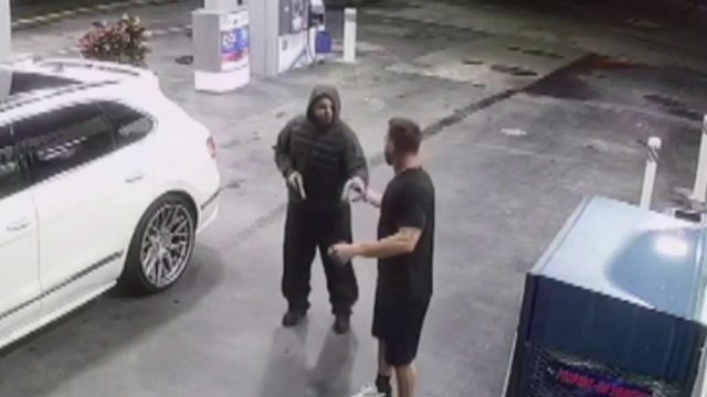 Armed carjacking caught on camera at Miami-Dade gas station