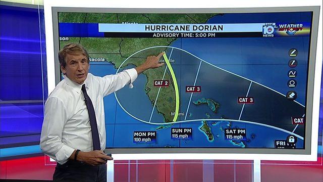 Hurricane Dorian 5 PM Advisory - Wednesday, August 28, 2019
