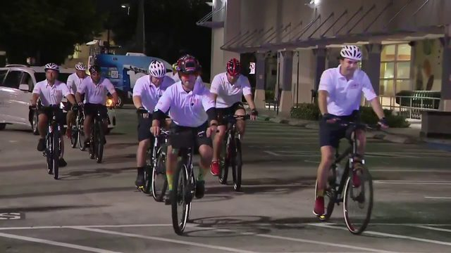 Police officers, firefighter embark on bike ride for good cause