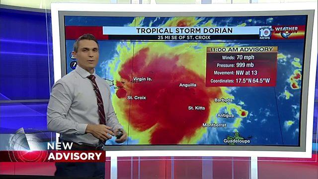 Tropical Storm Dorian - 11 AM Advisory - Wednesday, August 28, 2019