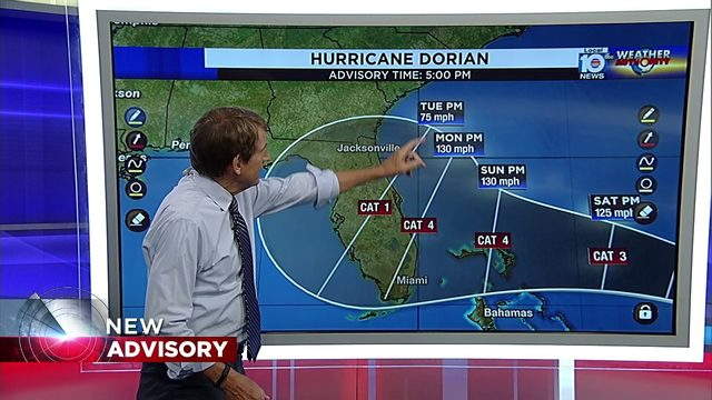 5 PM Advisory released for Hurricane Dorian
