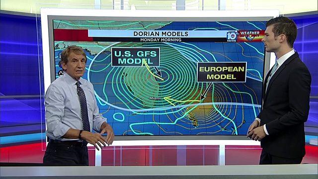 Bryan Norcross and Brandon Orr update status of Hurricane Dorian