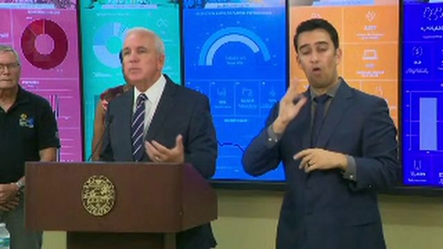 Miami-Dade County mayor holds news conference on Hurricane Dorian preparations