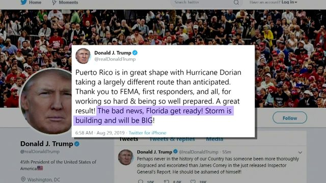 Trump predicts Hurricane Dorian may be 'one of the biggest' Florida has seen