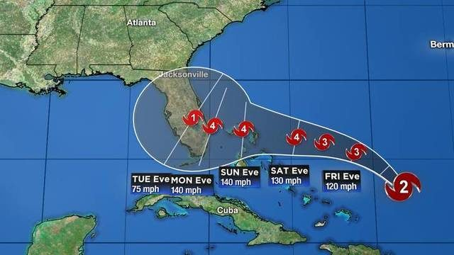 11 p.m. update: Dorian is expected to become major hurricane Friday