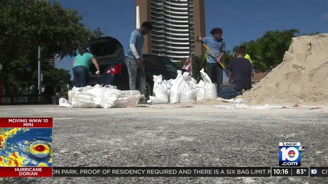 City distributes sandbags to Miami residents at Legion Park