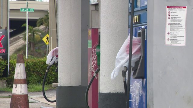 Frustration as gas station left dry as residents prep for Dorian