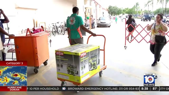 Home Depot in Broward's West Park runs out of generators