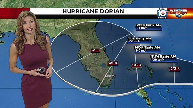 Julie Durda has latest on Hurricane Dorian