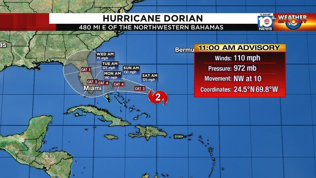 Hurricane Dorian poses 'extreme threat' to Florida