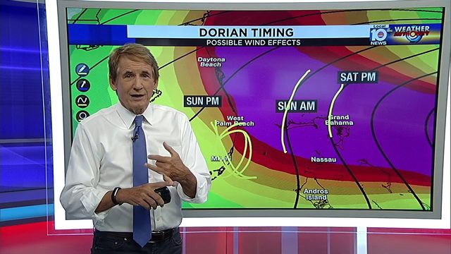 Betty Davis and Bryan Norcross have the latest on Hurricane Dorian on…