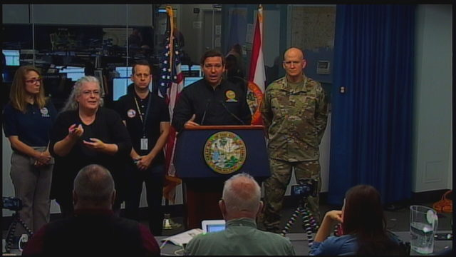 'Anyone inside that cone needs to be prepared,' DeSantis says of Dorian forecast
