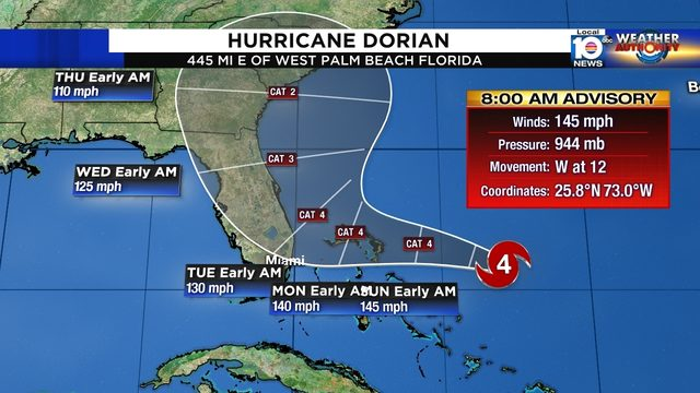 Hurricane Dorian remains strong Category 4 storm