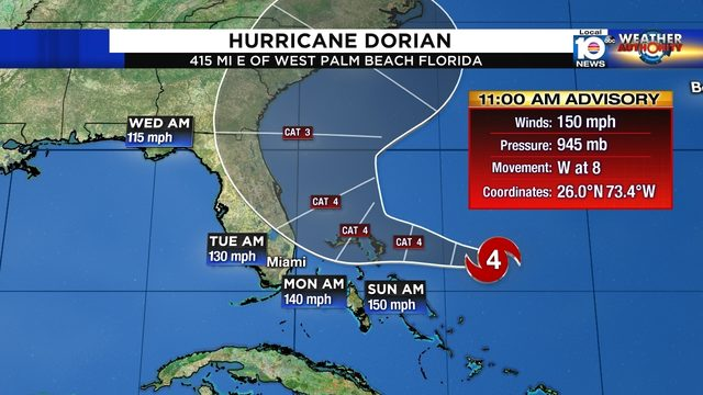 Miami mayor to sign emergency declaration despite Dorian's projected path