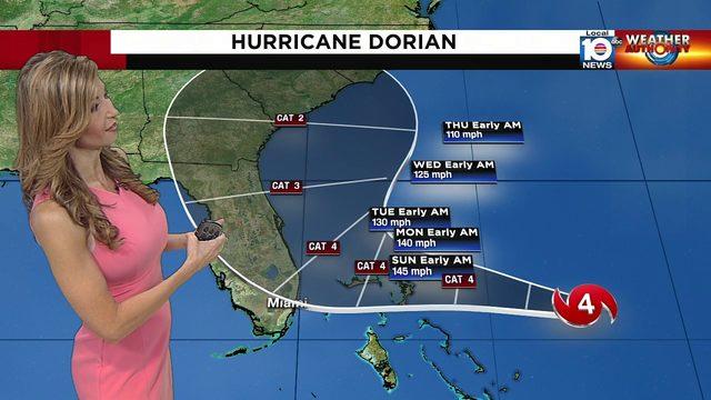 Julie Durda breaks down 5 a.m. Hurricane Dorian advisory