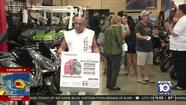 Rick Case Honda in Davie stocks up on generators