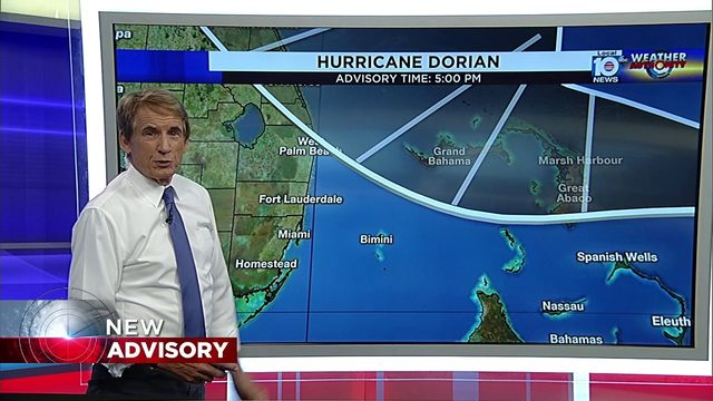 Tropical Storm watch issued for parts of Florida ahead of Dorian