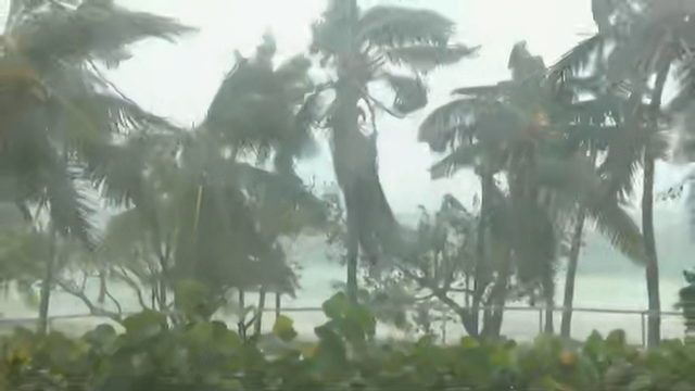 Catastrophic Hurricane Dorian pounding Bahamas with intense wind, driving rain