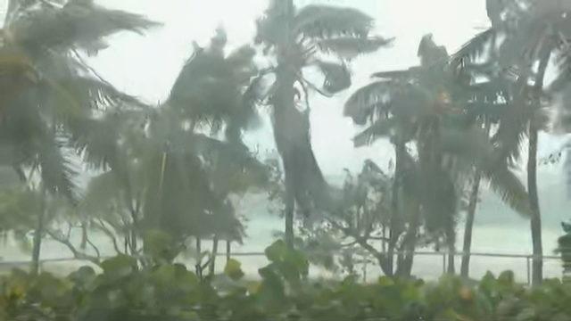 Catastrophic Hurricane Dorian pounding Bahamas with intense wind, driving rain