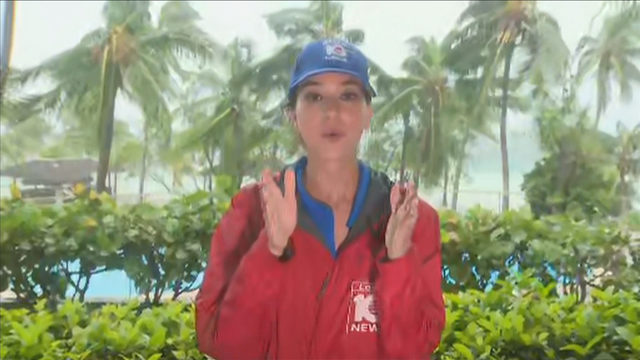 Local 10's Jenise Fernandez reports live from eye of Hurricane Dorian