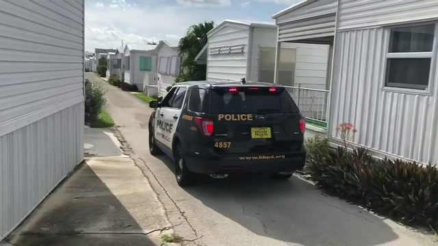 Officers patrol mobile home community in Boynton Beach