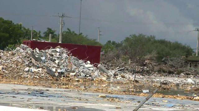As Dorian nears, construction site full of debris has some Pembroke…
