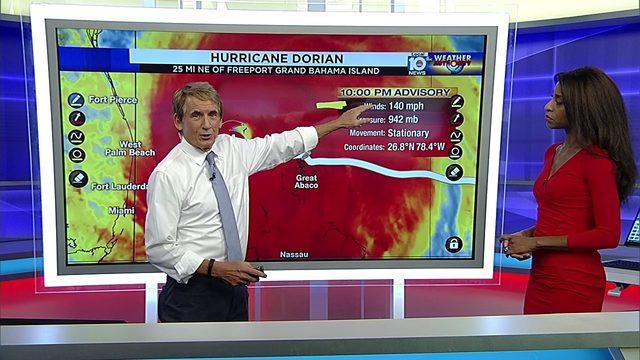10 PM Advisory for Hurricane Dorian with Betty Davis and Bryan Norcross