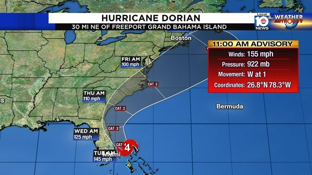 WATCH LIVE: Hurricane Dorian to make closest approach to South Florida Monday