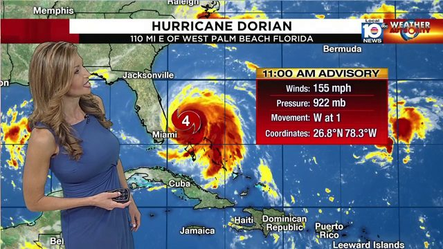 11 AM Advisory for Hurricane Dorian released