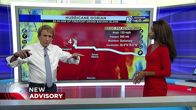 11 PM Advisory for Hurricane Dorian with Betty Davis and Bryan Norcross