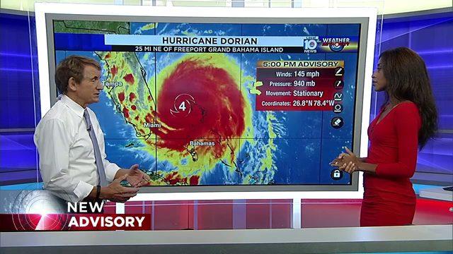 5 PM Advisory for Hurricane Dorian with Betty Davis and Bryan Norcross