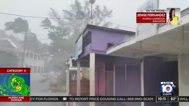 Live report from Local 10's Jenise Fernandez on Great Abaco following…