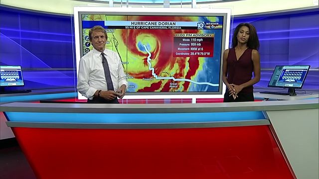 11 PM Hurricane Dorian advisory with Betty Davis and Bryan Norcross