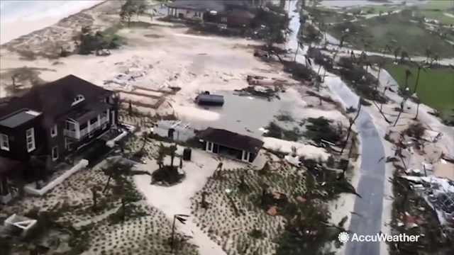 Aerial views show devastation caused by Dorian on Abaco Islands