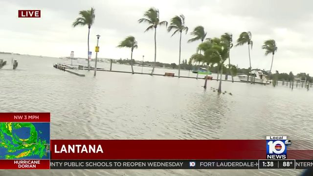 Hurricane Dorian brings major flooding to Lantana
