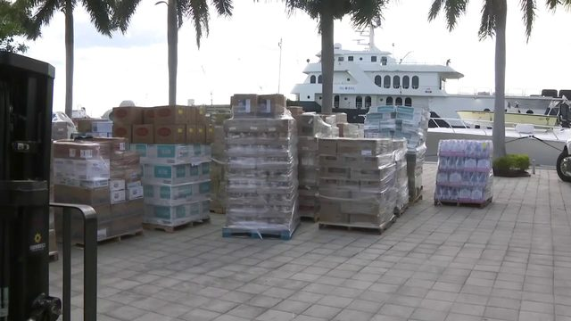 Boat bound for Bahamas filled with food to feed thousands