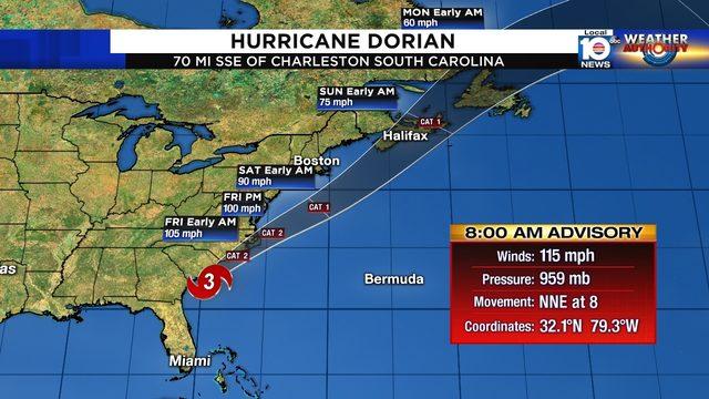 Hurricane Dorian mauls Carolina coast with high storm surge, flooding rain