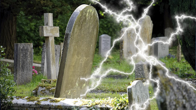 Woman jogging in cemetery dies after being struck by lightning