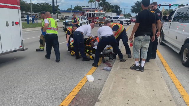 Pedestrian hospitalized after being struck by vehicle in Pembroke Pines