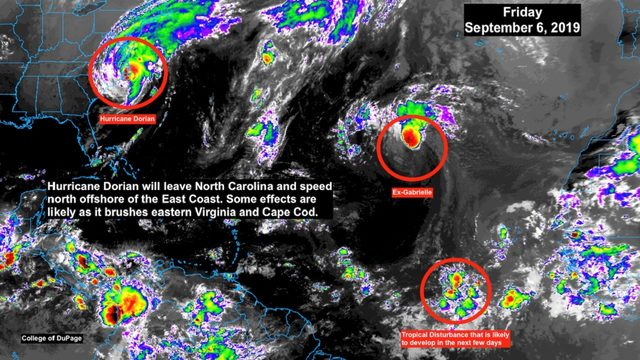 Hurricane Dorian's eyewall battering North Carolina coast